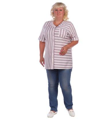 Жен. блузка арт. 16-0417 Какао р. 64