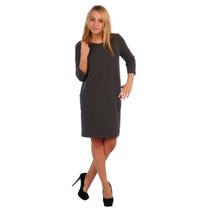 Жен. платье арт. 16-0421 Антрацит р. 56