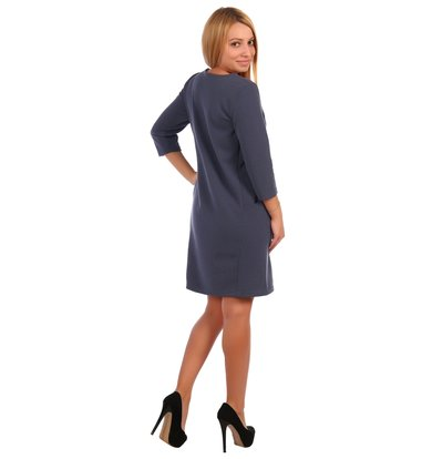 Жен. платье арт. 16-0421 Синий р. 56