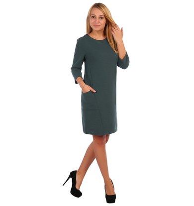 Жен. платье арт. 16-0421 Зеленый р. 56
