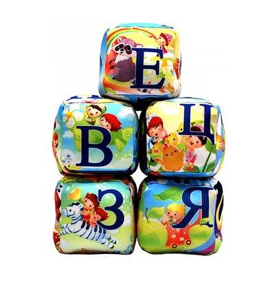 "Игрушка-подушка ""Кубики алфавит"" Разноцветный р. 8х8"