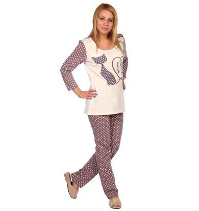 Жен. пижама арт. 16-0446 Молочный р. 56