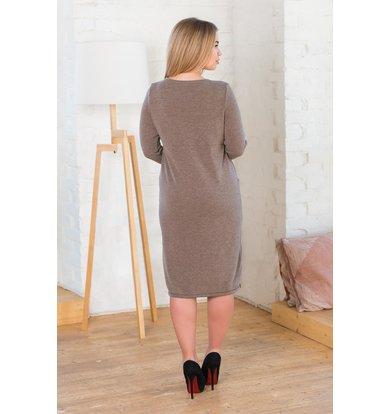 Жен. платье арт. 19-0206 Капучино р. 58