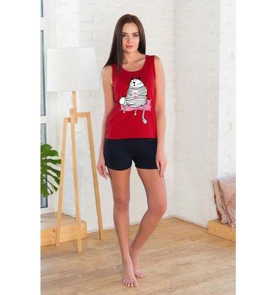 Жен. костюм арт. 19-0214 Красный р. 42