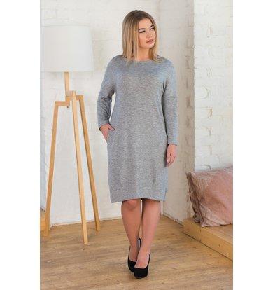 Жен. платье арт. 19-0075 Серый р. 58