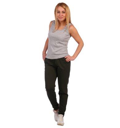 Жен. брюки арт. 16-0410 Темный хаки р. 60
