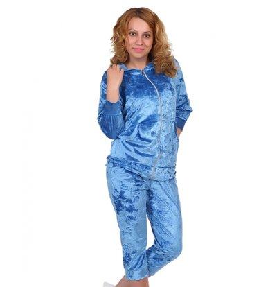 Жен. костюм арт. 16-0220 Голубой р. 46