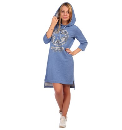 Жен. платье арт. 16-0395 Голубой р. 44