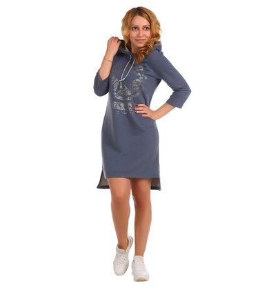 Жен. платье арт. 16-0395 Индиго р. 44