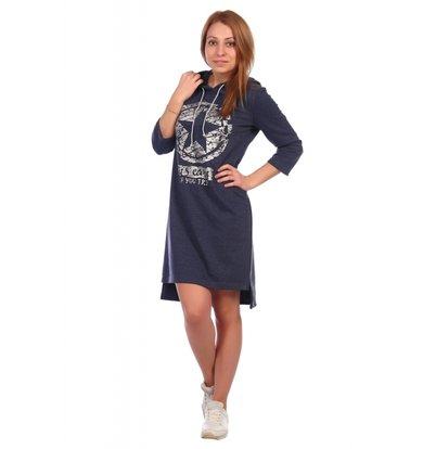 Жен. платье арт. 16-0395 Темно-синий р. 44