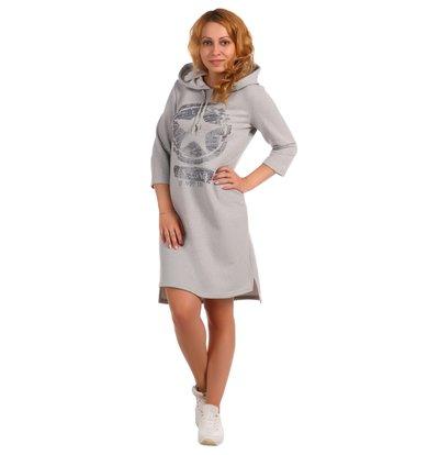 Жен. платье арт. 16-0395 Серый р. 44