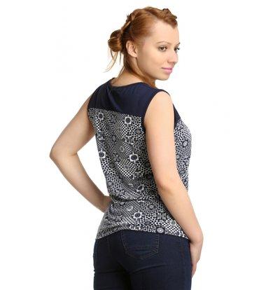 Жен. блуза арт. 16-0166 Темно-синий р. 46