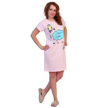 Жен. сорочка арт. 16-0309 Светло-розовый р. 60