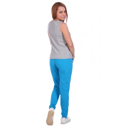 Жен. брюки арт. 16-0488 Светло-бирюзовый р. 46