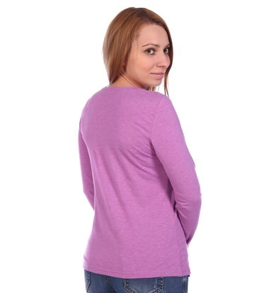 Жен. блуза арт. 16-0499 Лиловый р. 44