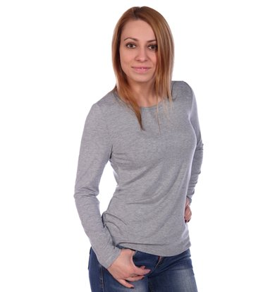 Жен. блуза арт. 16-0499 Серый р. 44
