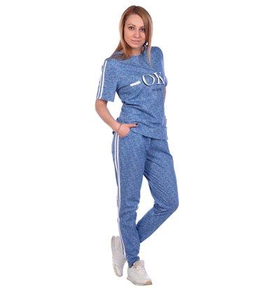 Жен. костюм арт. 16-0491 Голубой р. 46