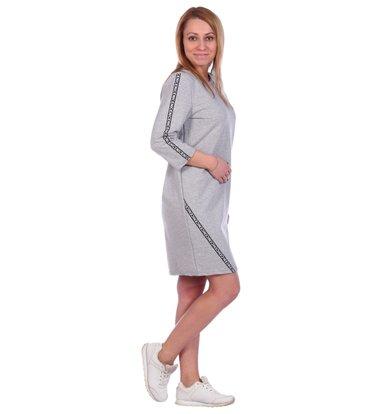Жен. платье арт. 16-0493 Серый р. 54
