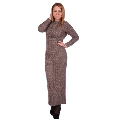 Жен. платье арт. 16-0501 Светло-коричневый р. 42-44