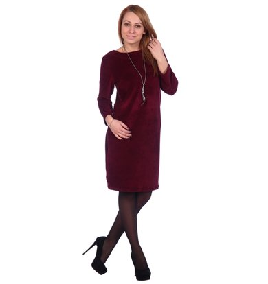 Жен. платье арт. 16-0503 Бордовый р. 46