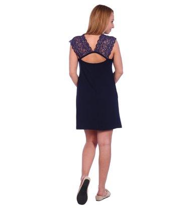 Жен. сорочка арт. 16-0495 Темно-синий р. 44