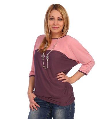 Жен. блуза арт. 16-0453 Чайная роза р. 60