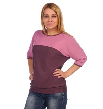 Жен. блуза арт. 16-0453 Лиловый р. 60