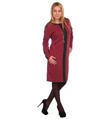 Жен. платье арт. 16-0461 Бордовый р. 50