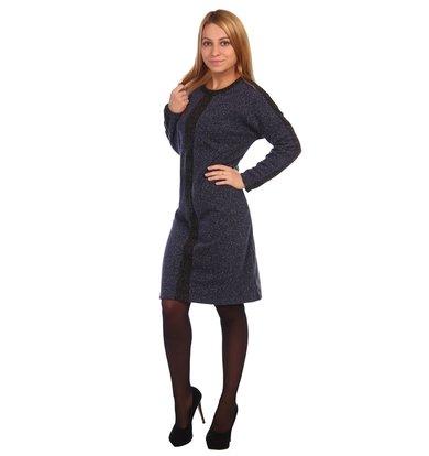 Жен. платье арт. 16-0461 Темно-синий р. 50
