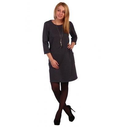 Жен. платье арт. 16-0459 Антрацит р. 46