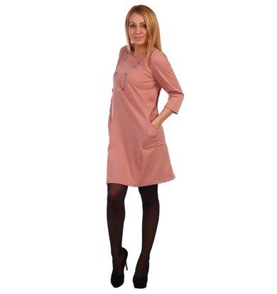 Жен. платье арт. 16-0459 Розовый р. 56