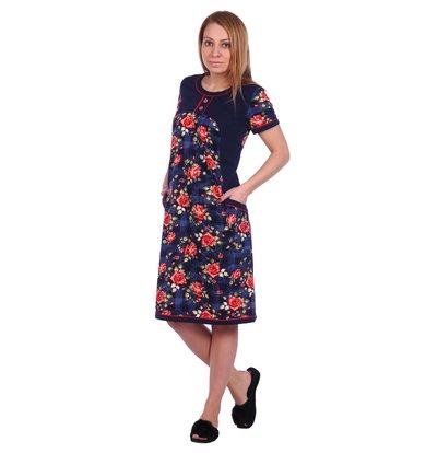 Жен. платье арт. 16-0506 Темно-синий р. 50