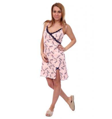 Жен. сорочка арт. 16-0386 Светло-розовый р. 56