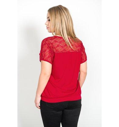 Жен. блуза арт. 19-0228 Бордо р. 56