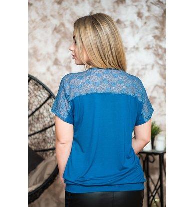 Жен. блуза арт. 19-0228 Индиго р. 56