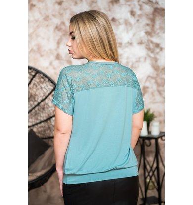 Жен. блуза арт. 19-0228 Пепельная мята р. 46