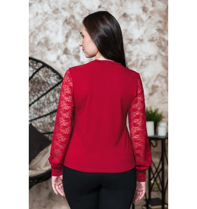 Жен. блуза арт. 19-0230 Бордо р. 52