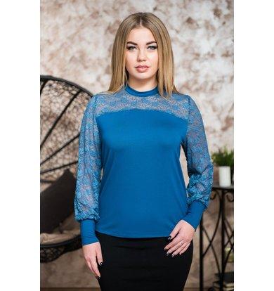 Жен. блуза арт. 19-0230 Индиго р. 42