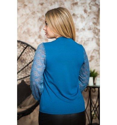 Жен. блуза арт. 19-0230 Индиго р. 52