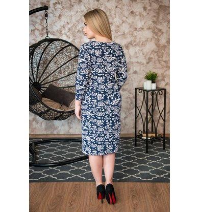Жен. платье арт. 19-0243 Темно-синий р. 42