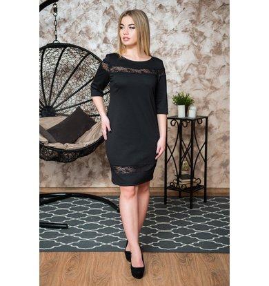 Жен. платье арт. 19-0242 Черный р. 42