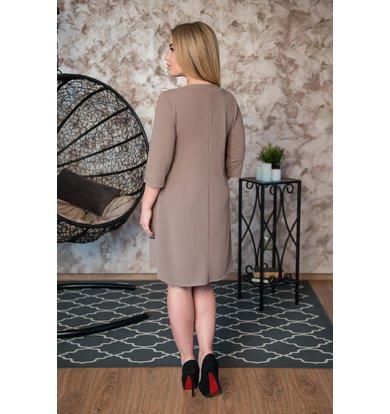 Жен. платье арт. 19-0235 Бежевый р. 42