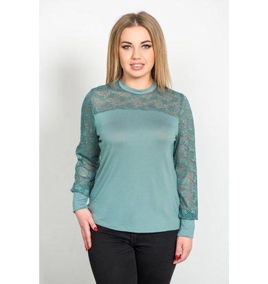 Жен. блуза арт. 19-0230 Пепельная мята р. 42