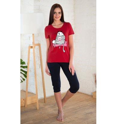 Жен. костюм арт. 19-0215 Красный р. 42