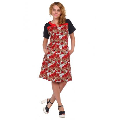Жен. платье арт. 16-0511 Красный р. 48