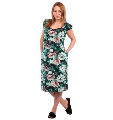 Жен. платье арт. 16-0324 Зеленый р. 50