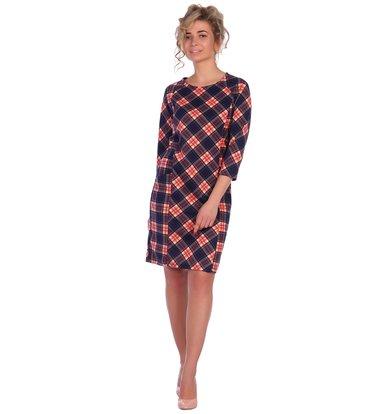 """Жен. платье """"арт. 16-0465 Коралл"""" р. 46"""