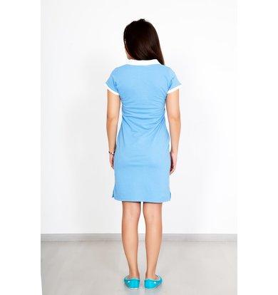 """Жен. платье """"Поло Голубой"""" р. 40"""