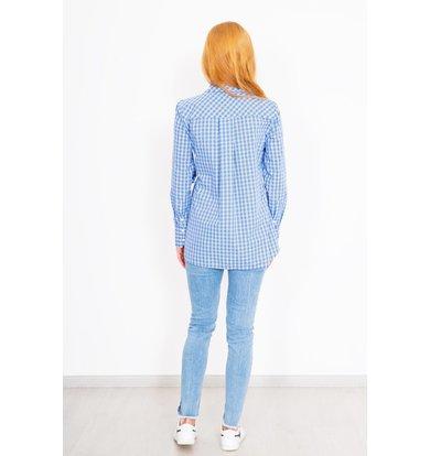 """Жен. рубашка """"Янина"""" Голубой р. 44"""