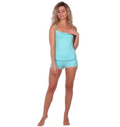 Жен. пижама арт. 16-0573 Голубой р. 42